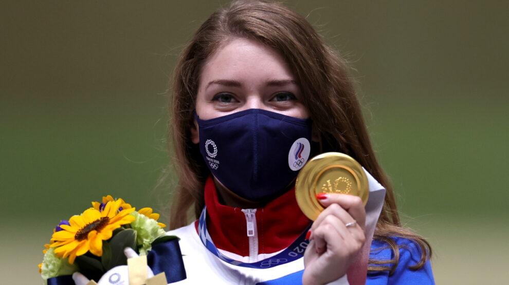 Виталина Бацарашкина - Олимпиада - стрельба