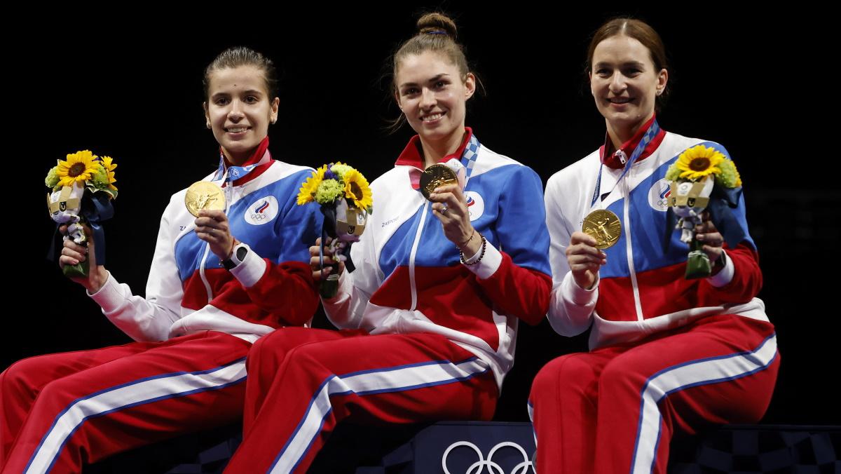 Трио наших чемпионок Олимпиады-2020. Фото: REUTERS